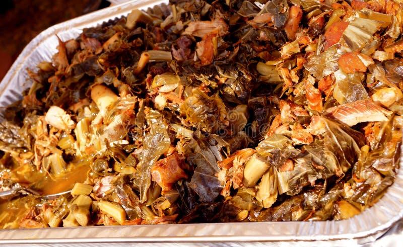BBQ Bash Suncoast - πράσινα & ζαμπόν λάχανων τροφίμων γεγονότος στοκ εικόνες