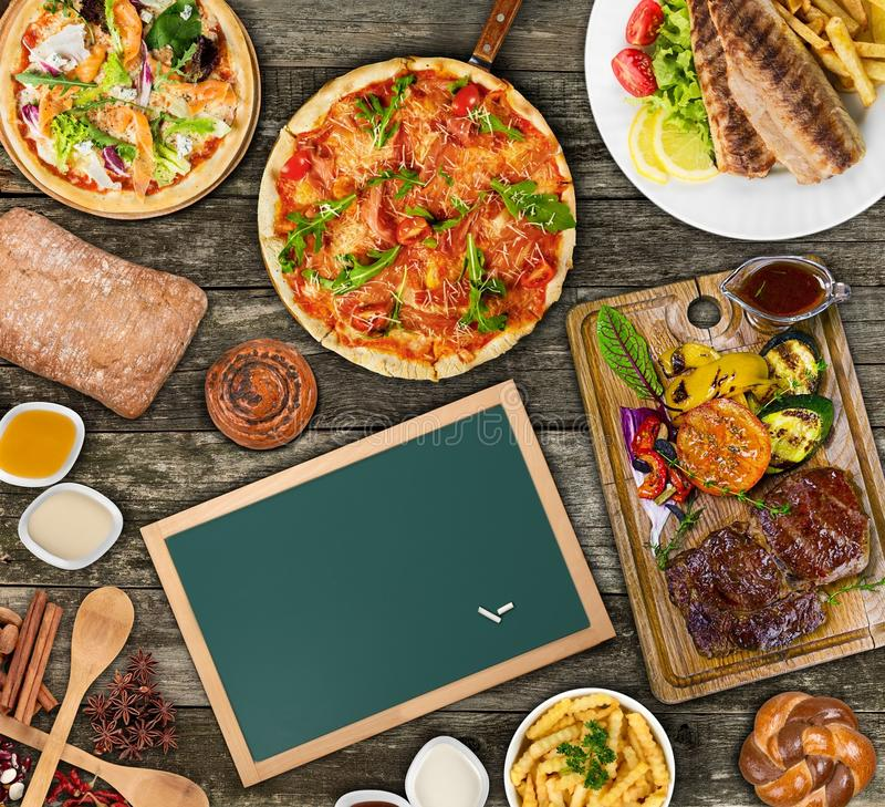 Download Bbq stock image. Image of table, picnic, sausage, background - 110828653