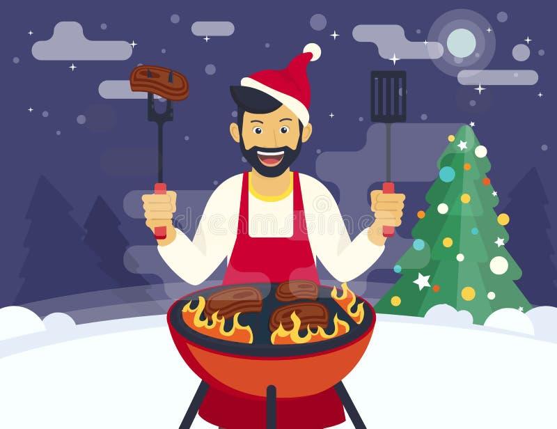 BBQ che cucina partito royalty illustrazione gratis