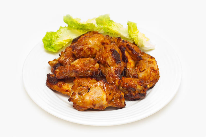 Download Bbq Chicken Wings On A Plate Stock Photo - Image: 17716356