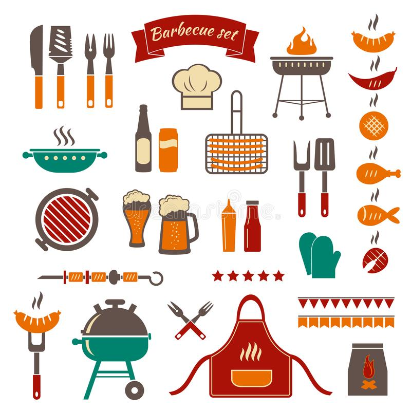 Bbq color objects stock vector illustration of invitation 112380720 download bbq color objects stock vector illustration of invitation 112380720 stopboris Images