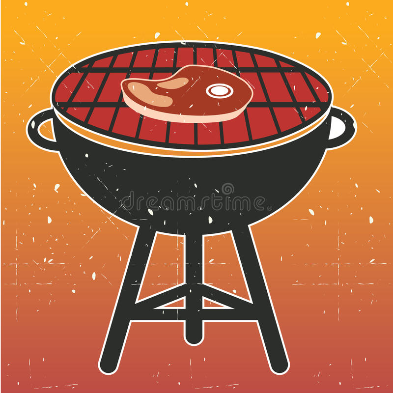 BBQ Cookout σχαρών διάνυσμα διανυσματική απεικόνιση