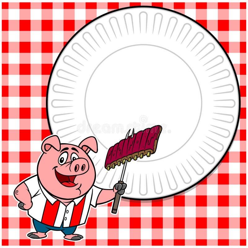 BBQ Cookout Zaprasza ilustracji