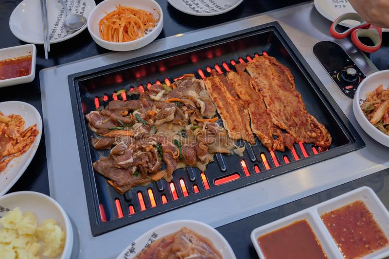 BBQ coréen de porc photos stock
