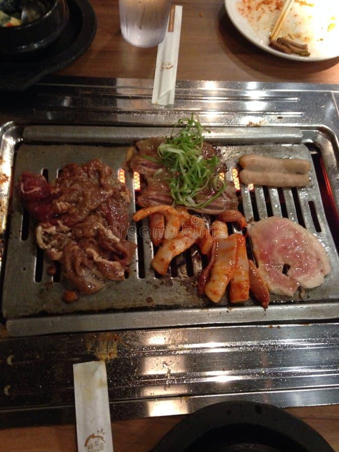 BBQ coreano immagine stock