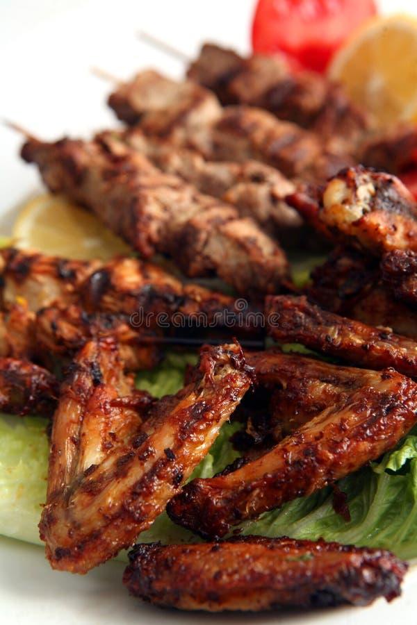 BBQ d'aile de poulet photos stock