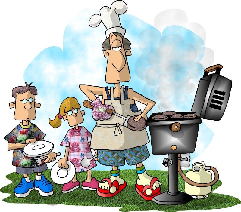 Bbq de la hamburguesa ilustración del vector