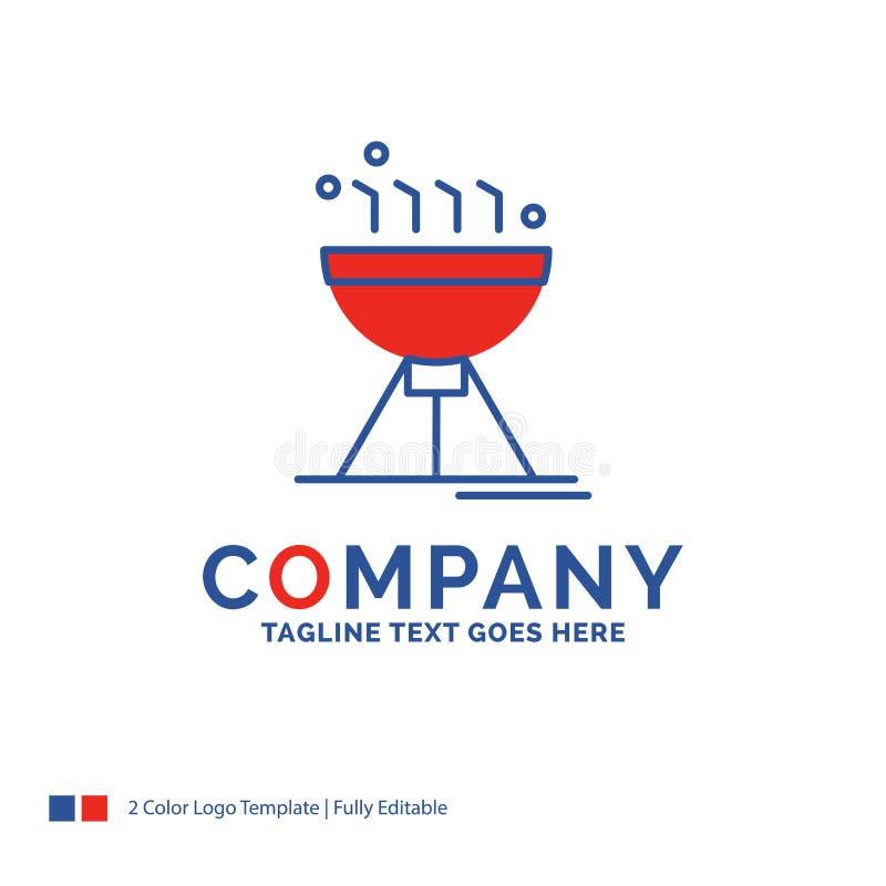 Bbq de Logo Design For Cooking del nombre de compañía, acampando, comida, parrilla libre illustration