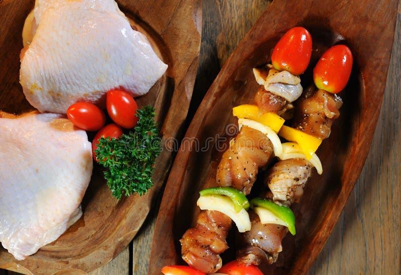 BBQ de poulet photos stock