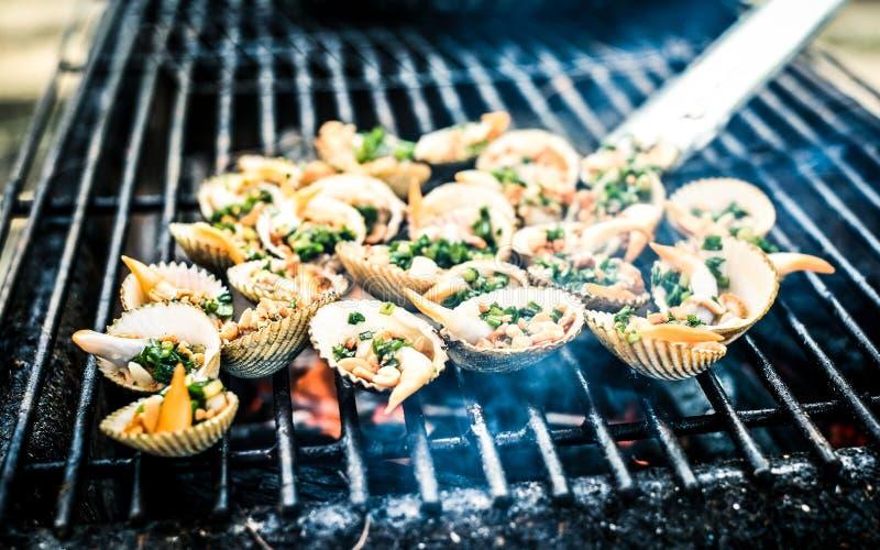 BBQ dei frutti di mare immagini stock libere da diritti
