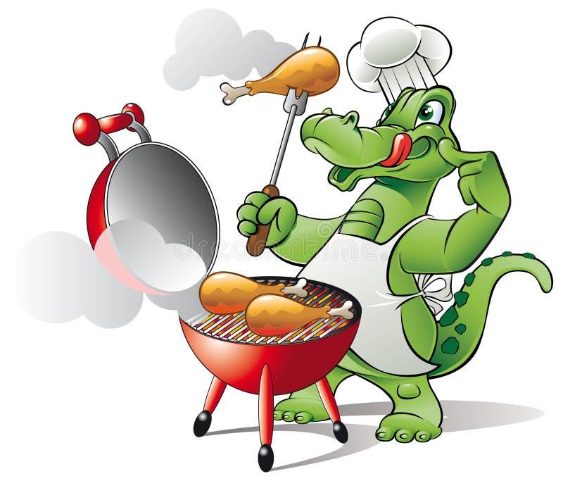 Bbq del cuoco unico illustrazione vettoriale