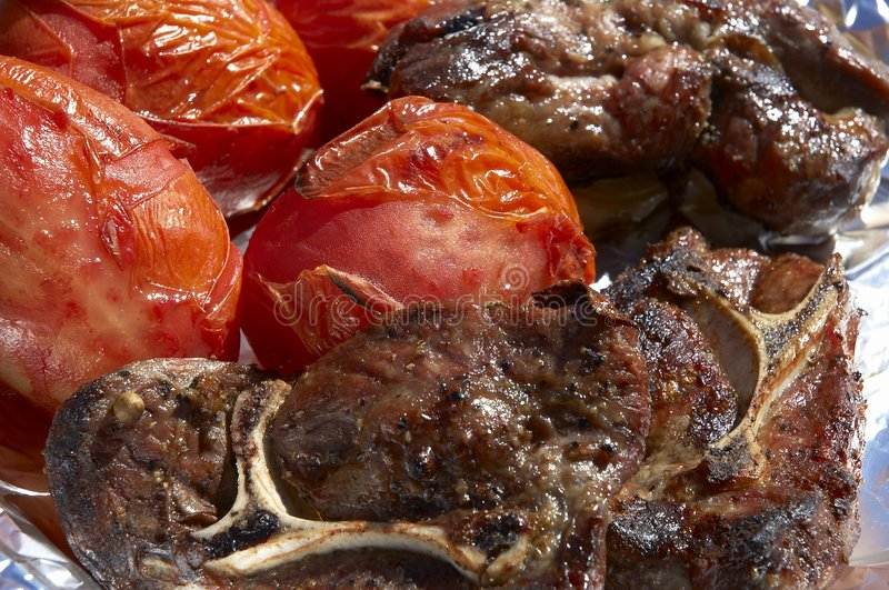 Download Bbq dinner stock photo. Image of tomatoes, dinner, supper - 111894