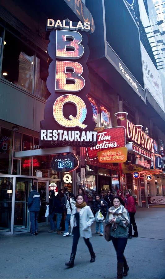 BBQ do restaurante em NYC fotografia de stock royalty free