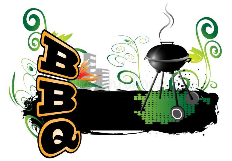 BBQ, fondo illustrazione di stock