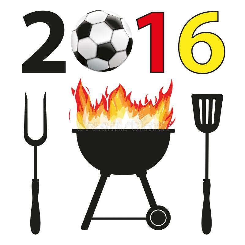 BBQ 2016 Futbolowy Niemcy royalty ilustracja