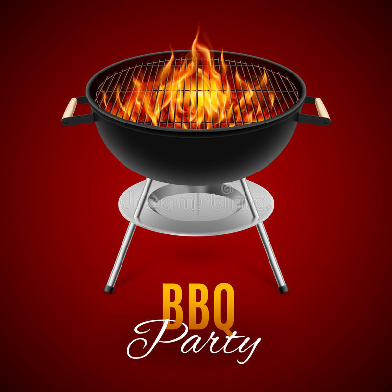 Bbq-galler stock illustrationer