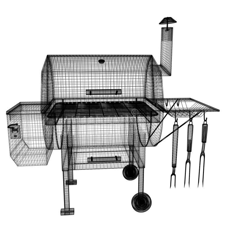 BBQ grill ilustracji