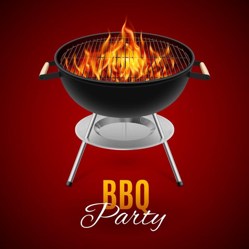BBQ grill stock illustratie