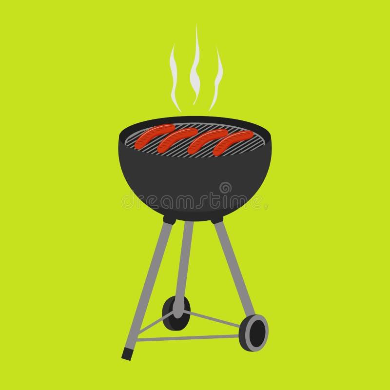 BBQ grill ilustracja wektor