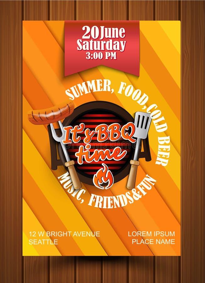 BBQ Grill flyer. royalty free illustration