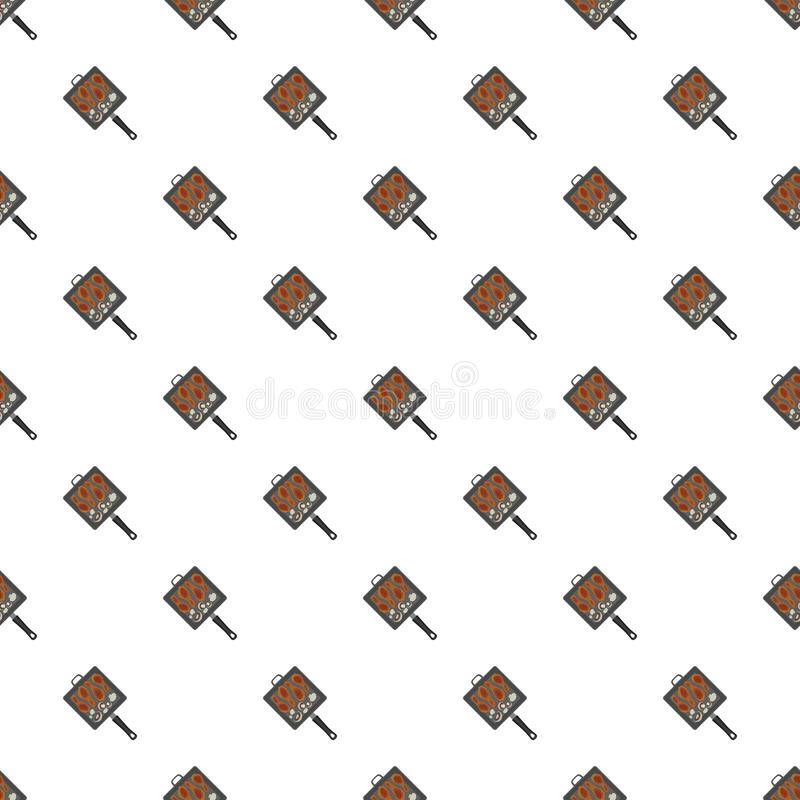 Bbq grill griddle pattern seamless royalty free illustration