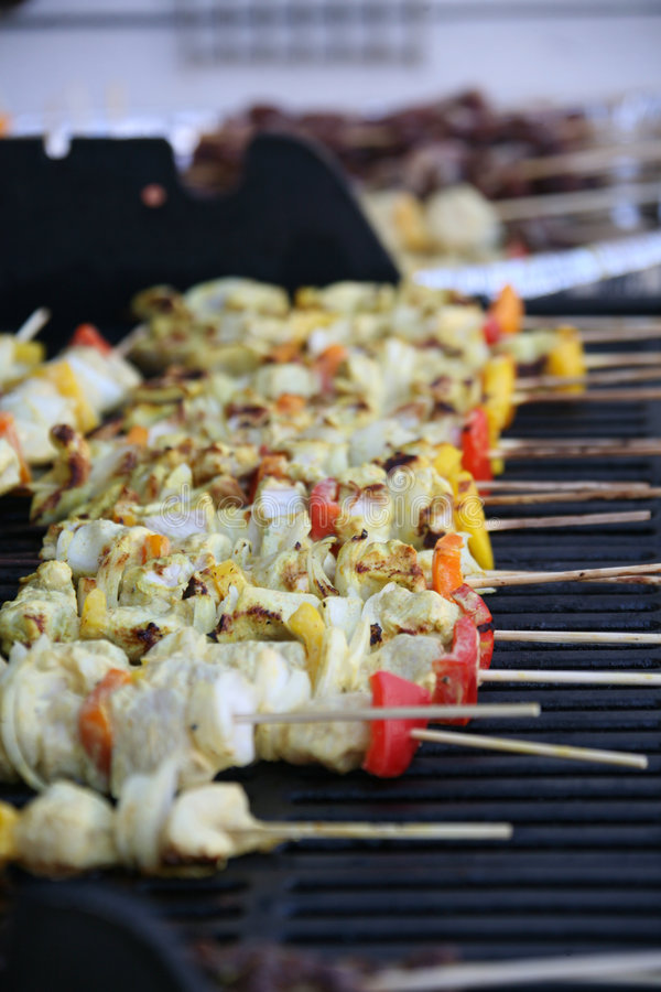BBQ Grill With Kabobs stock image