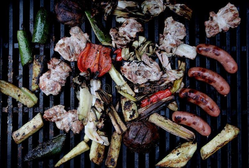 BBQ Grill met Stijl royalty-vrije stock fotografie