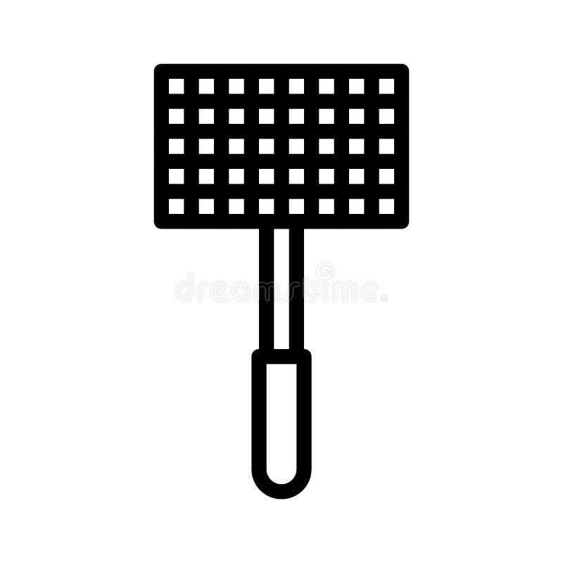 Bbq grill net vector, ikona edytowalnego stylu linii powiązana z kreską ilustracji
