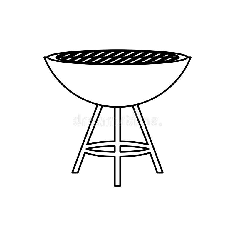 BBQ grill odizolowywający ilustracji