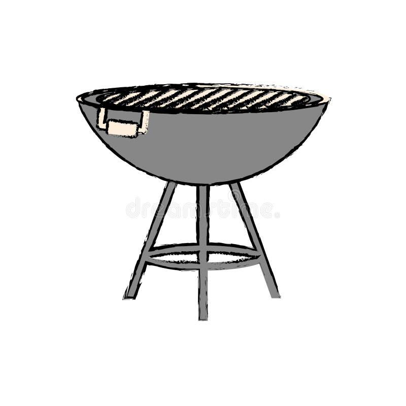 BBQ grill odizolowywający royalty ilustracja