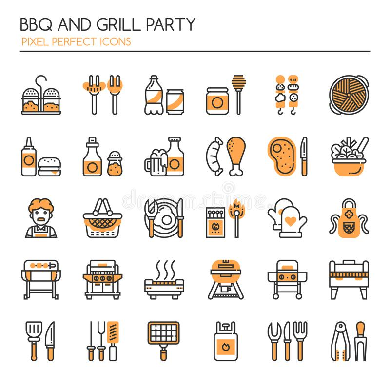 BBQ and Grill Party stock illustration