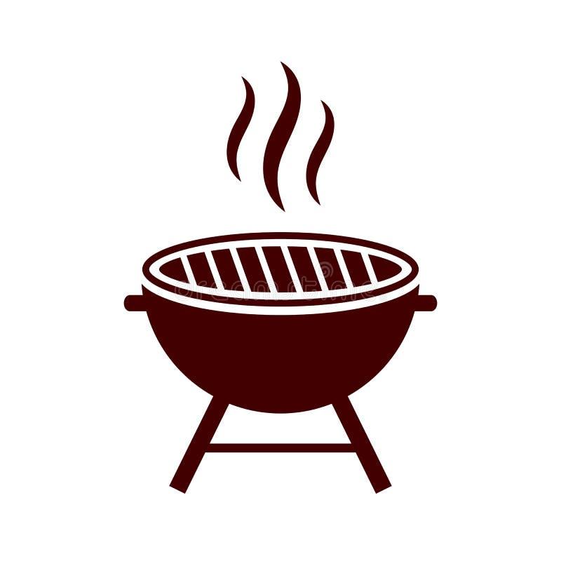 Bbq grill vectorpictogram vector illustratie