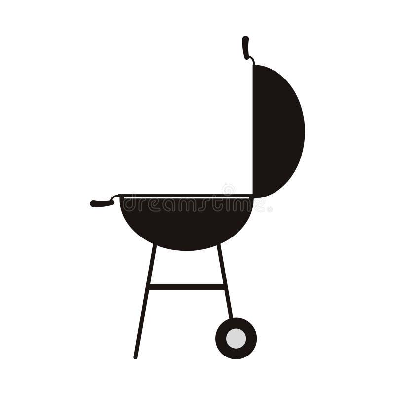 BBQ grilla ikona ilustracja wektor
