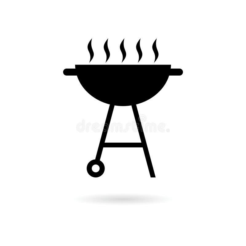 BBQ, grilla Lub grilla ikona, royalty ilustracja