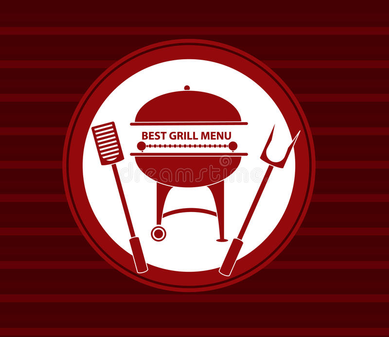 Bbq grilla menu royalty ilustracja