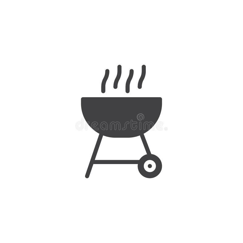 Bbq grilla wektoru ikona royalty ilustracja