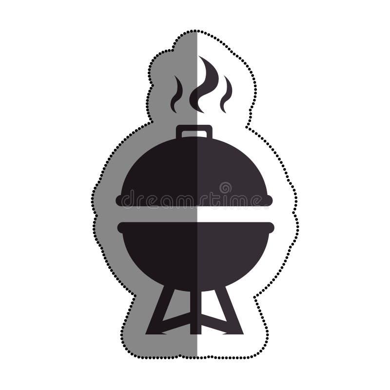 bbq grilla wyśmienicie jedzenie ilustracji