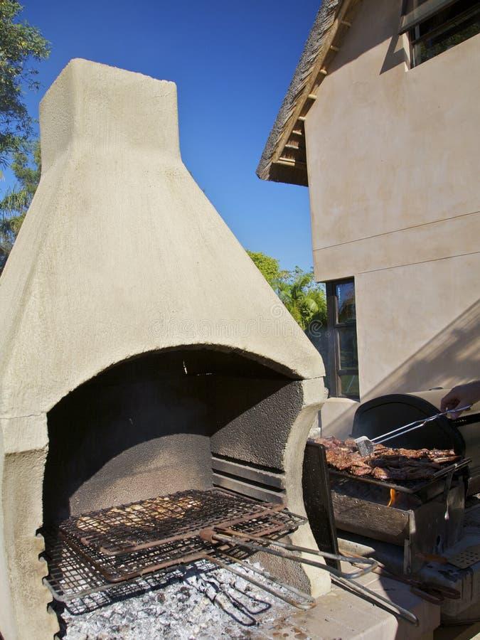 bbq grillad meat arkivbilder
