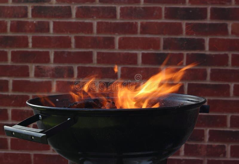 BBQ grillbrand royalty-vrije stock afbeeldingen