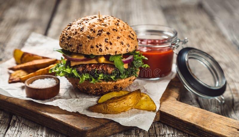 BBQ hamburgery fotografia stock
