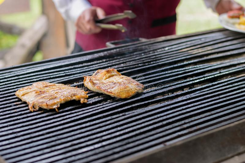 BBQ, Herb Chicken Breast royalty free stock images