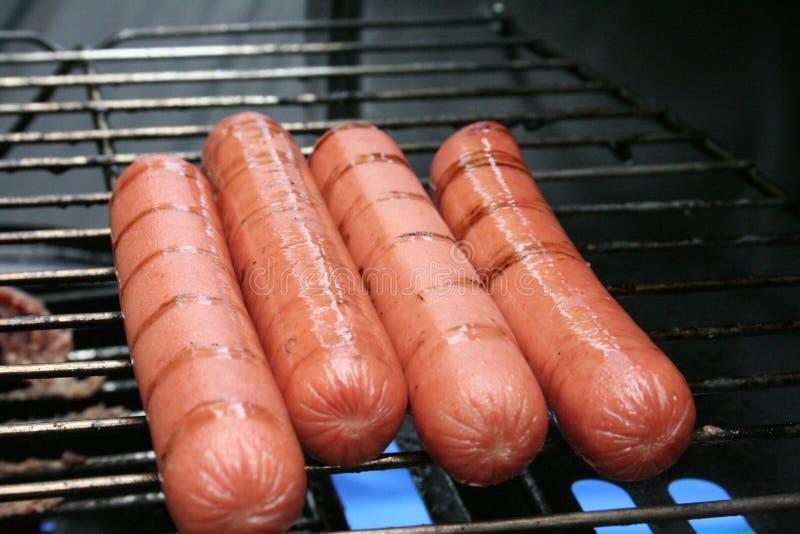 Bbq-Hotdogs stockfoto