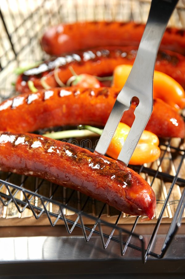 Bbq - hotdogs stock photography