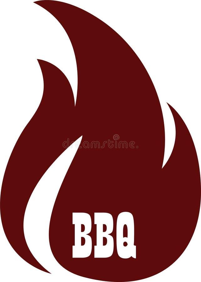 BBQ icon logo. vector illustration