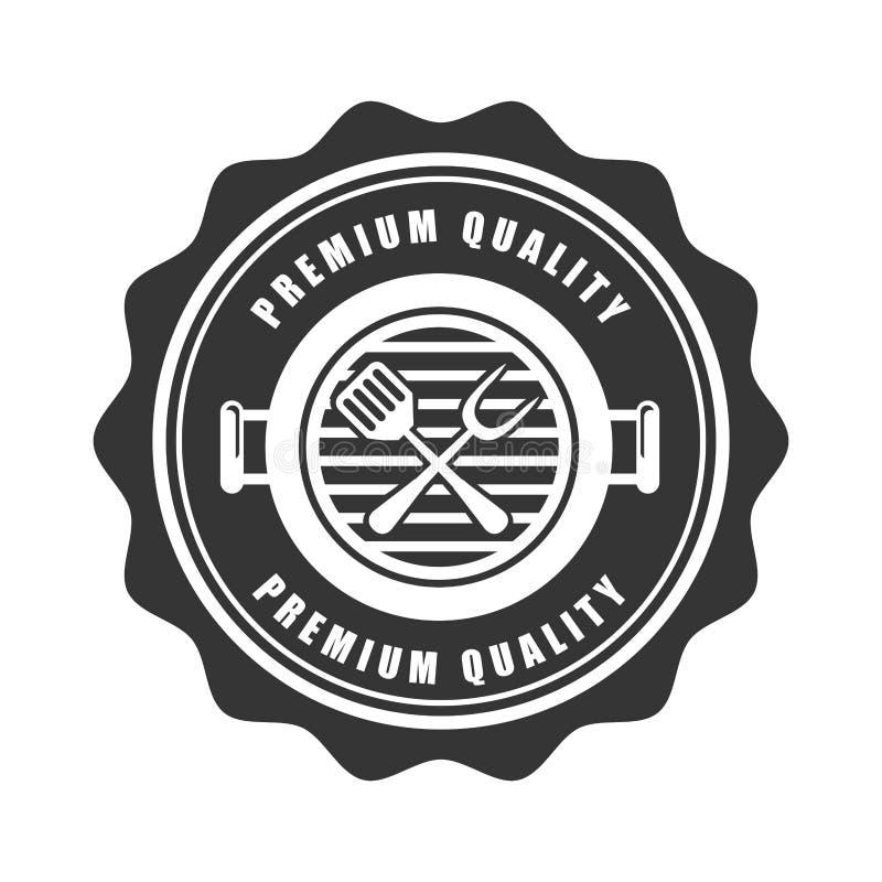 Bbq ikona ilustracja wektor