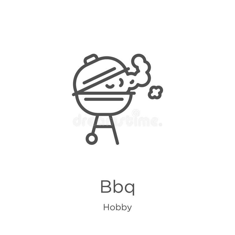 bbq-Ikonenvektor von der Hobbysammlung D?nne Linie bbq-Entwurfsikonen-Vektorillustration Entwurf, dünne Linie bbq-Ikone für Websi vektor abbildung
