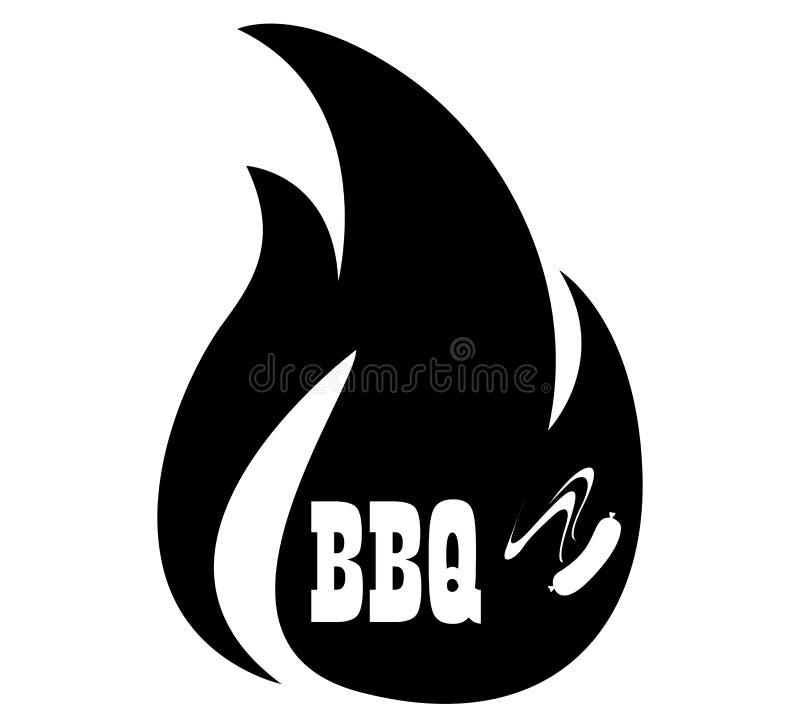 BBQ ikony logo ilustracja wektor
