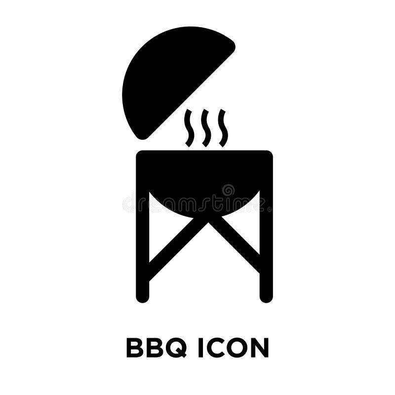Bbq ikony wektor odizolowywający na białym tle, loga Bb pojęcie ilustracja wektor