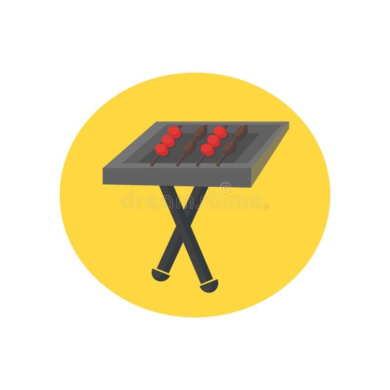 Bbq ikony wektoru znak i symbol odizolowywający na białym tle, Bb ilustracja wektor