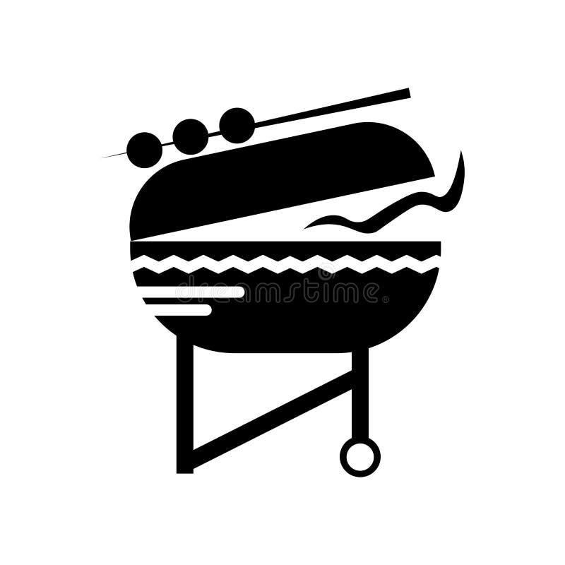 Bbq ikony wektoru znak i symbol odizolowywający na białym tle, Bbq logo pojęcie royalty ilustracja